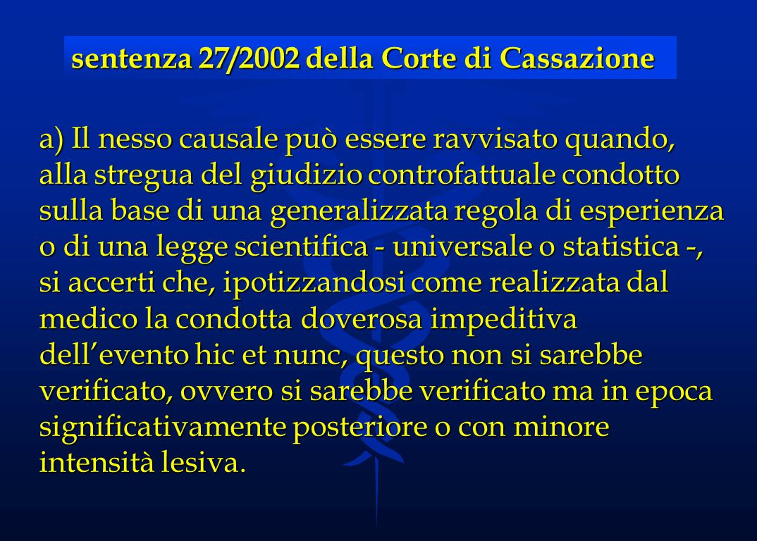 sentenza 27/2002 della Corte di Cassazione