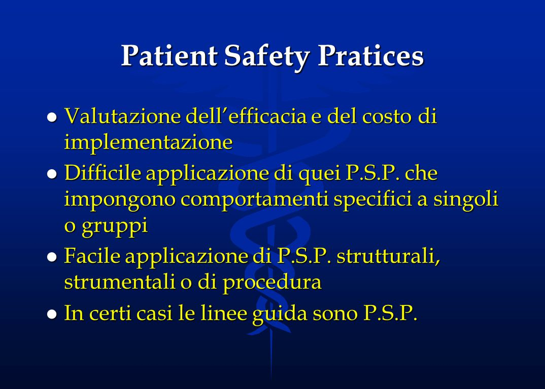 Patient Safety Pratices