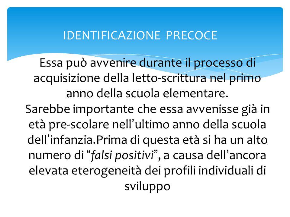 IDENTIFICAZIONE PRECOCE
