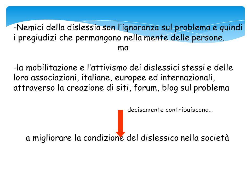 attraverso la creazione di siti, forum, blog sul problema