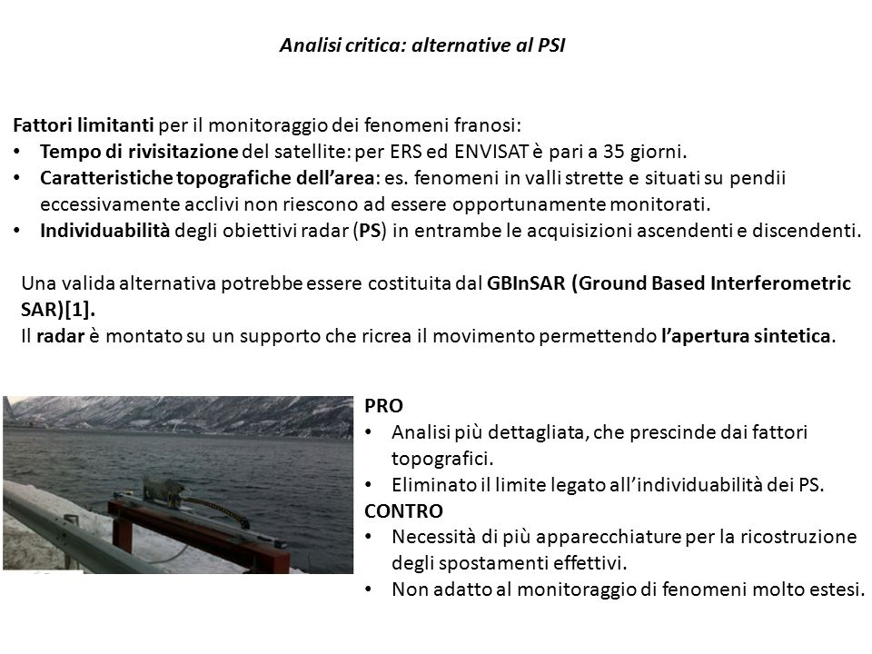 Analisi critica: alternative al PSI