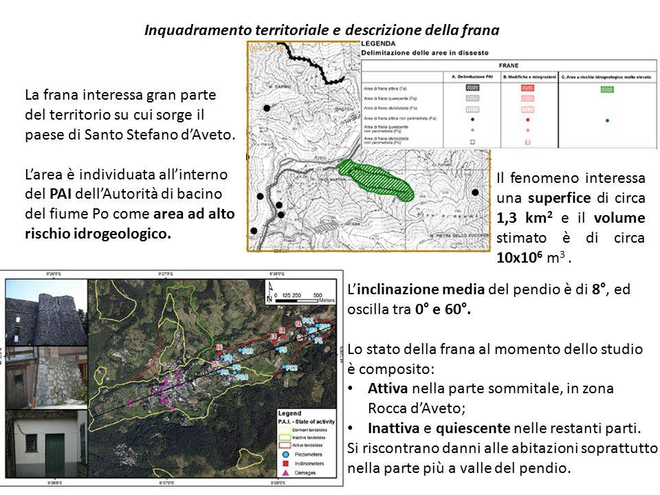 Inquadramento territoriale e descrizione della frana