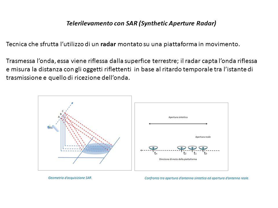 Telerilevamento con SAR (Synthetic Aperture Radar)