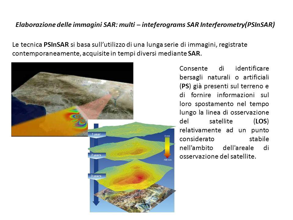 Elaborazione delle immagini SAR: multi – inteferograms SAR Interferometry(PSInSAR)
