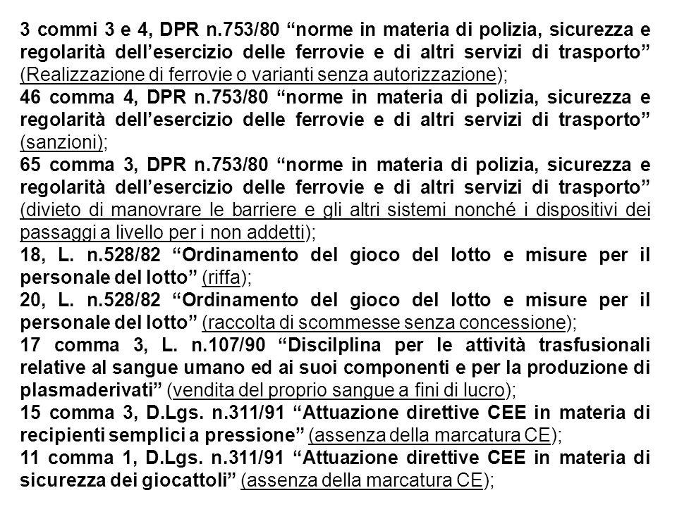 3 commi 3 e 4, DPR n.753/80 norme in materia di polizia, sicurezza e regolarità dell'esercizio delle ferrovie e di altri servizi di trasporto (Realizzazione di ferrovie o varianti senza autorizzazione);