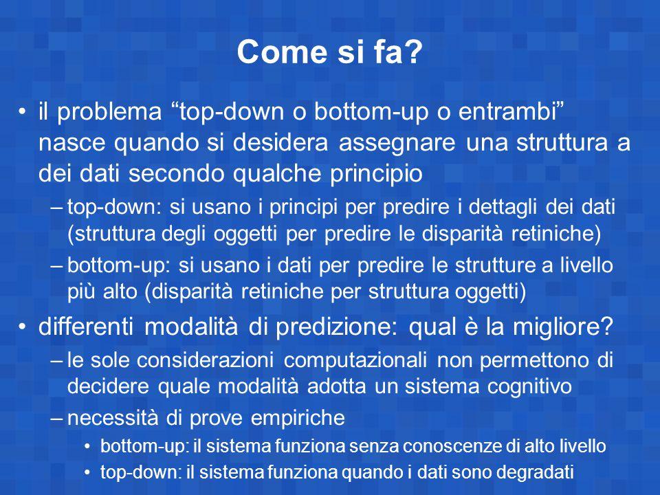 Come si fa il problema top-down o bottom-up o entrambi nasce quando si desidera assegnare una struttura a dei dati secondo qualche principio.