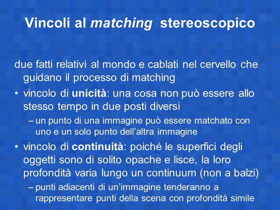 Vincoli al matching stereoscopico