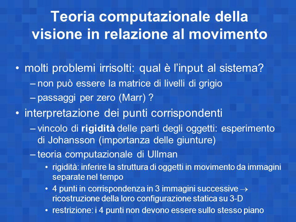 Teoria computazionale della visione in relazione al movimento