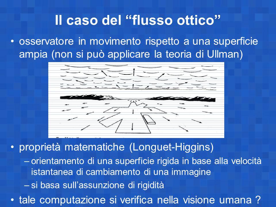 Il caso del flusso ottico