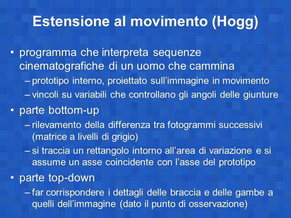 Estensione al movimento (Hogg)