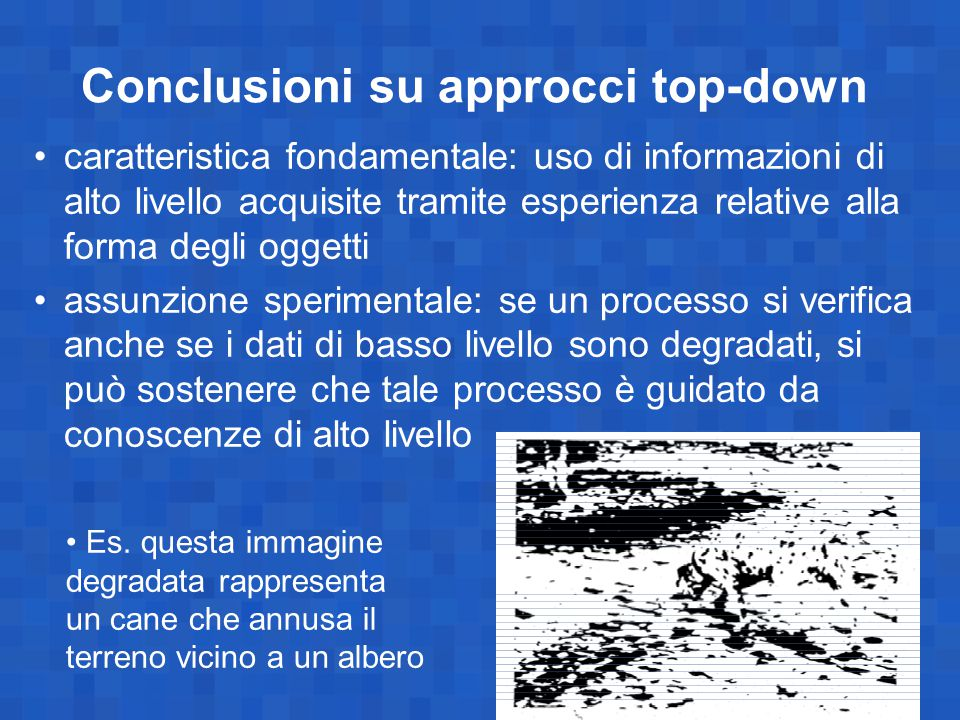 Conclusioni su approcci top-down