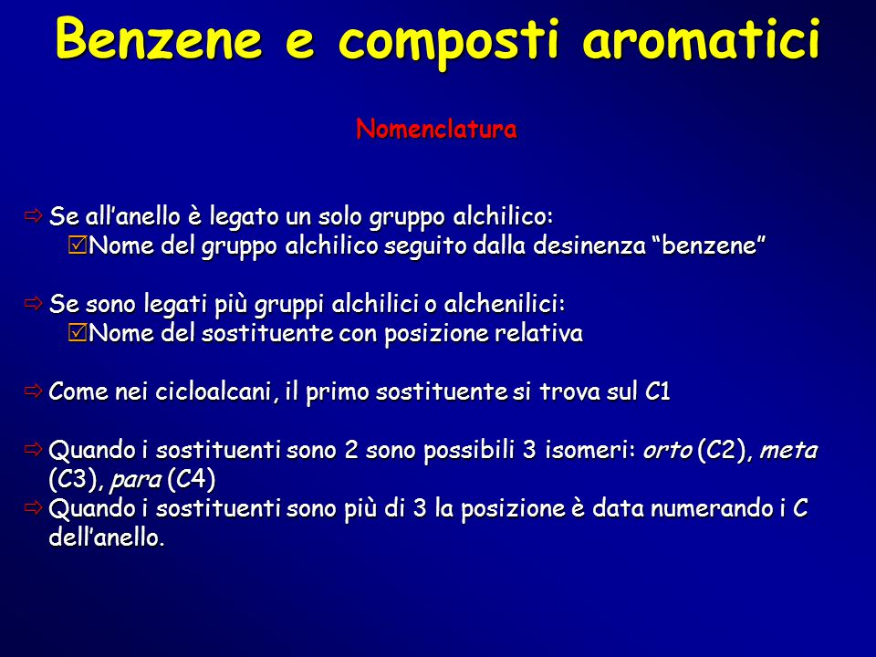 Benzene e composti aromatici