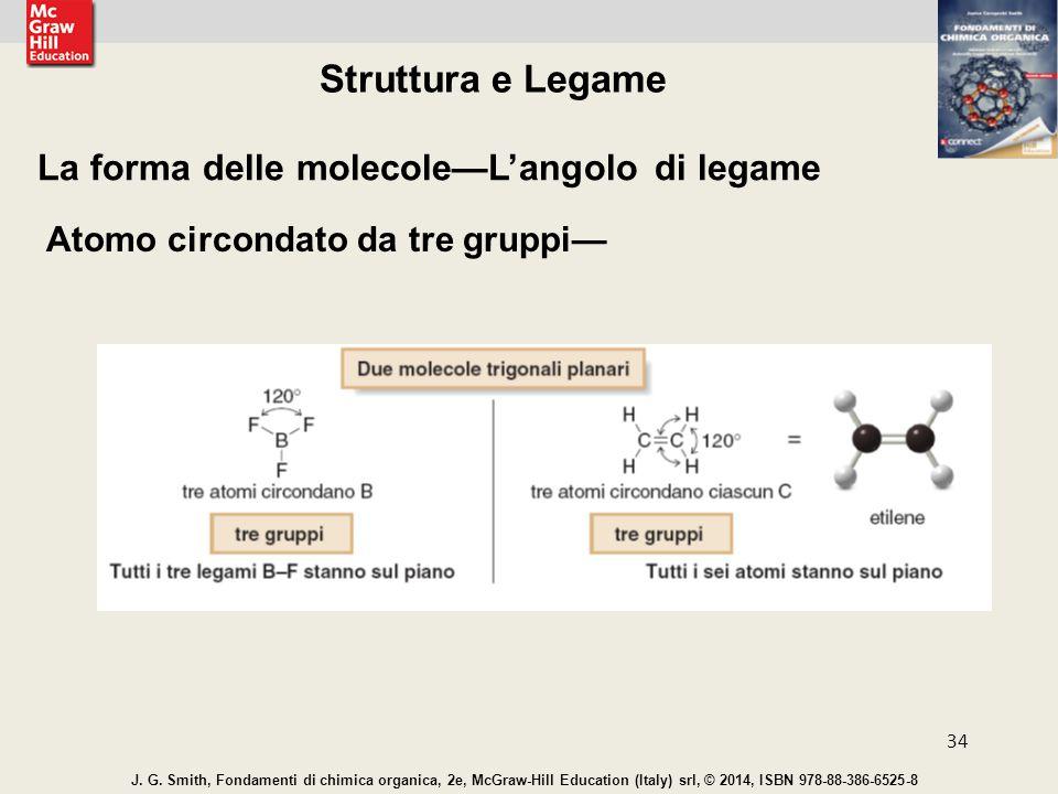 Struttura e Legame La forma delle molecole—L'angolo di legame