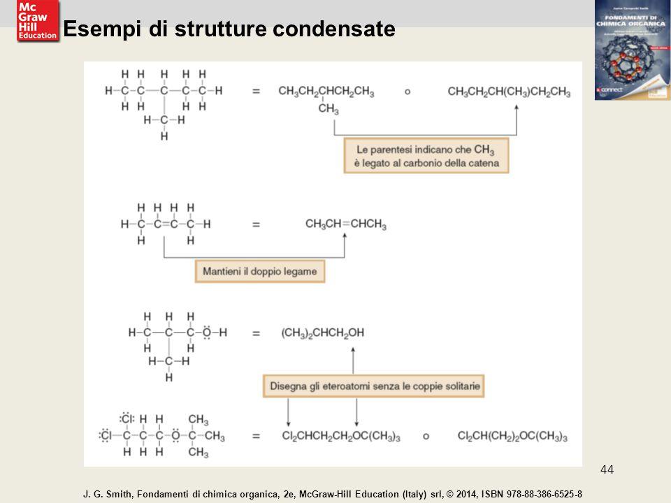 Esempi di strutture condensate