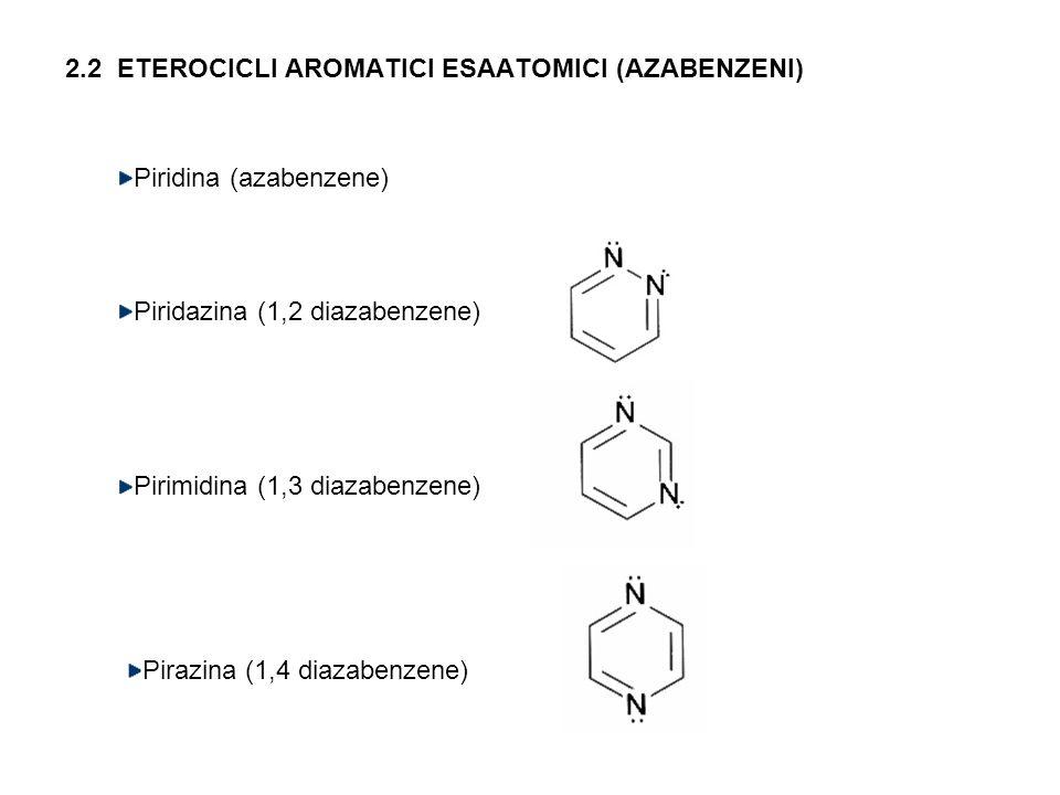 2.2 ETEROCICLI AROMATICI ESAATOMICI (AZABENZENI)