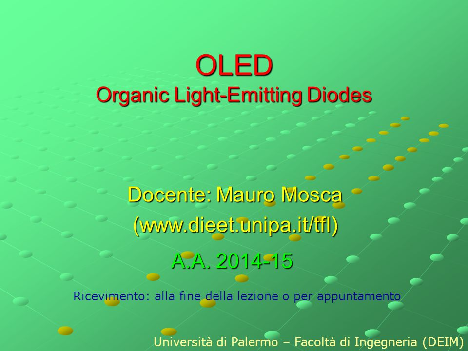 OLED Organic Light-Emitting Diodes