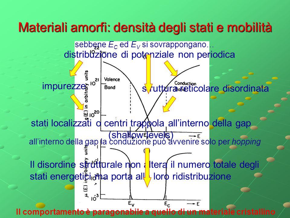 Materiali amorfi: densità degli stati e mobilità
