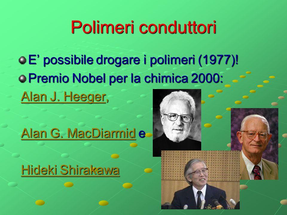 Polimeri conduttori E' possibile drogare i polimeri (1977)!