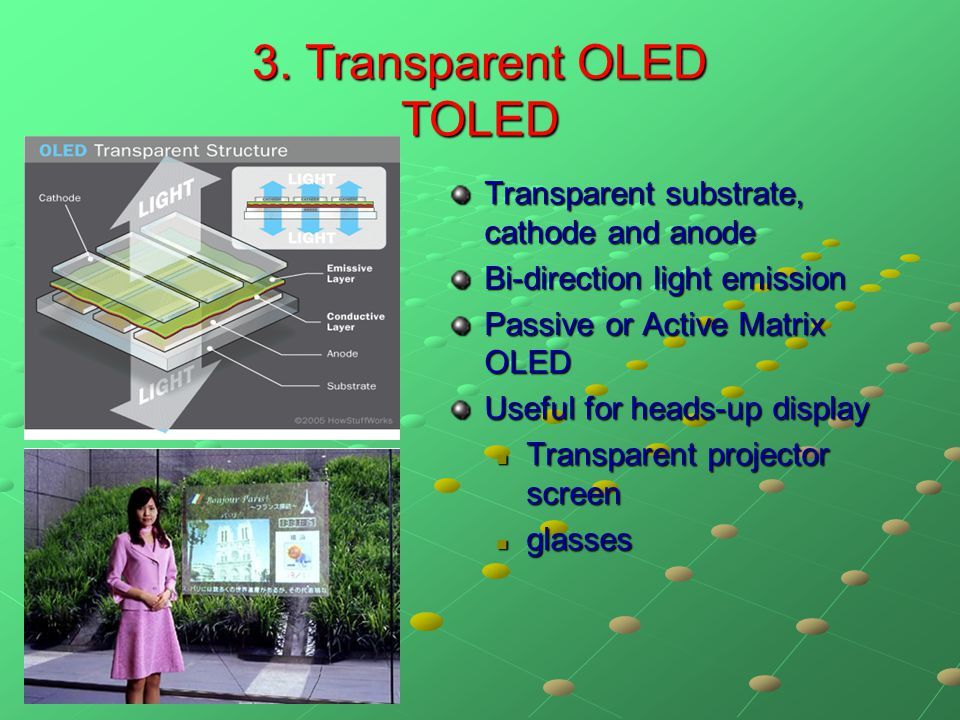 3. Transparent OLED TOLED