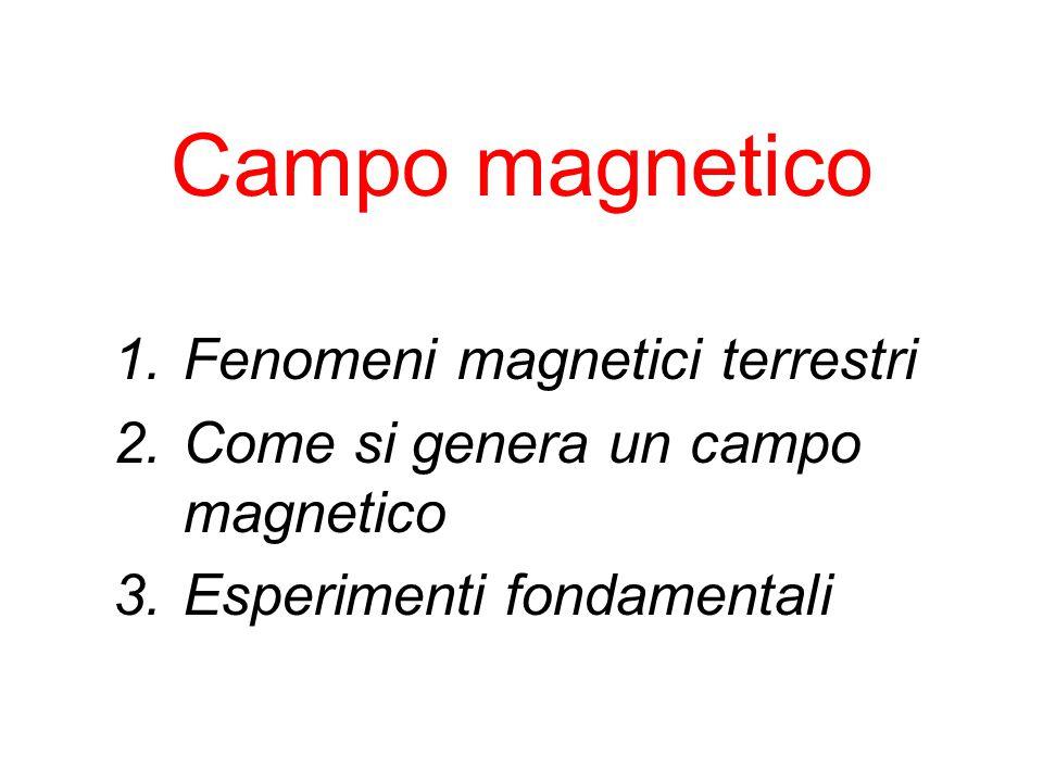 Campo magnetico Fenomeni magnetici terrestri