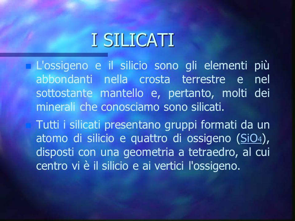 I SILICATI