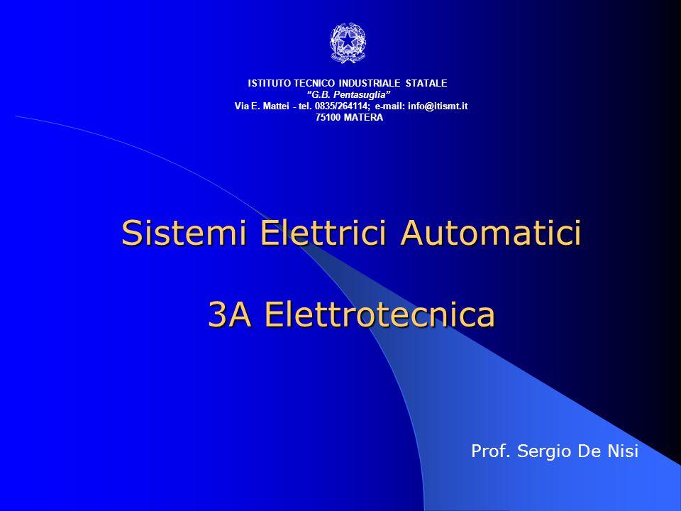 Sistemi Elettrici Automatici 3A Elettrotecnica