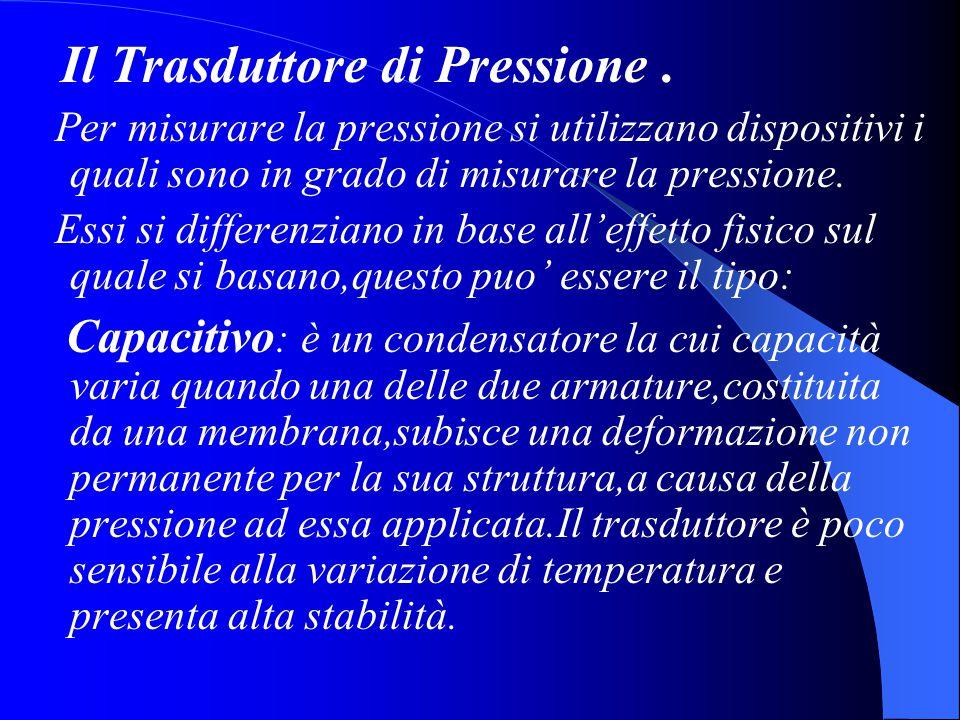 Il Trasduttore di Pressione .