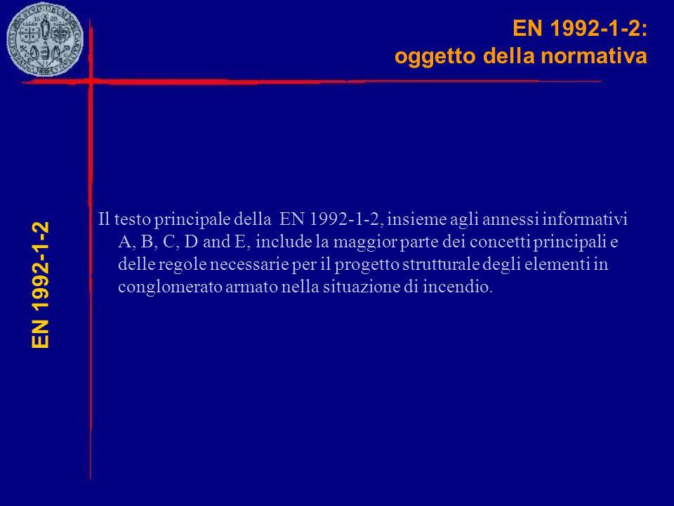 EN 1992-1-2: oggetto della normativa