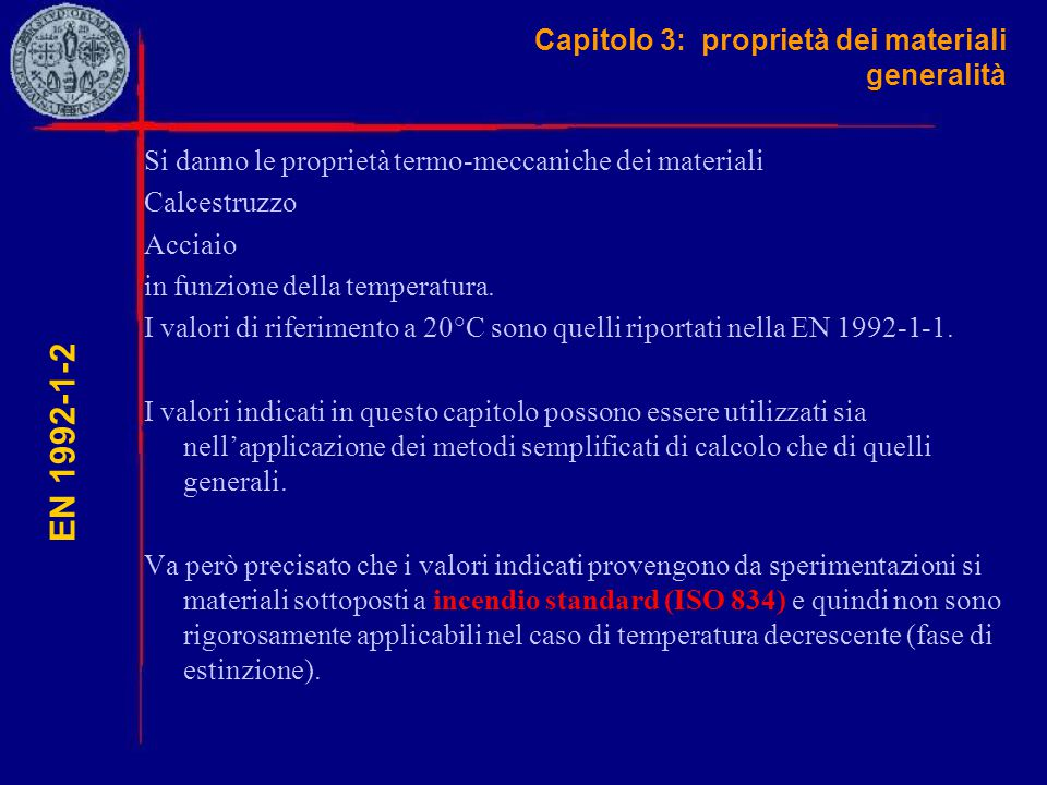Capitolo 3: proprietà dei materiali generalità
