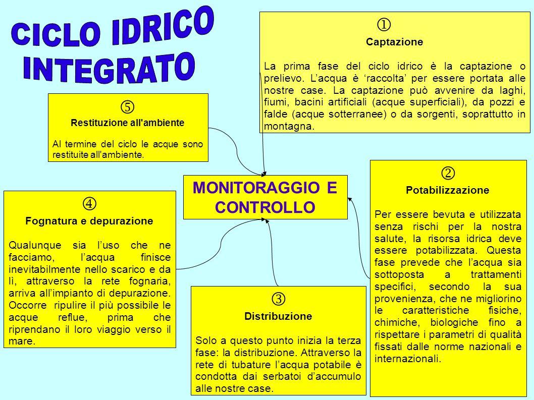      CICLO IDRICO INTEGRATO MONITORAGGIO E CONTROLLO Captazione