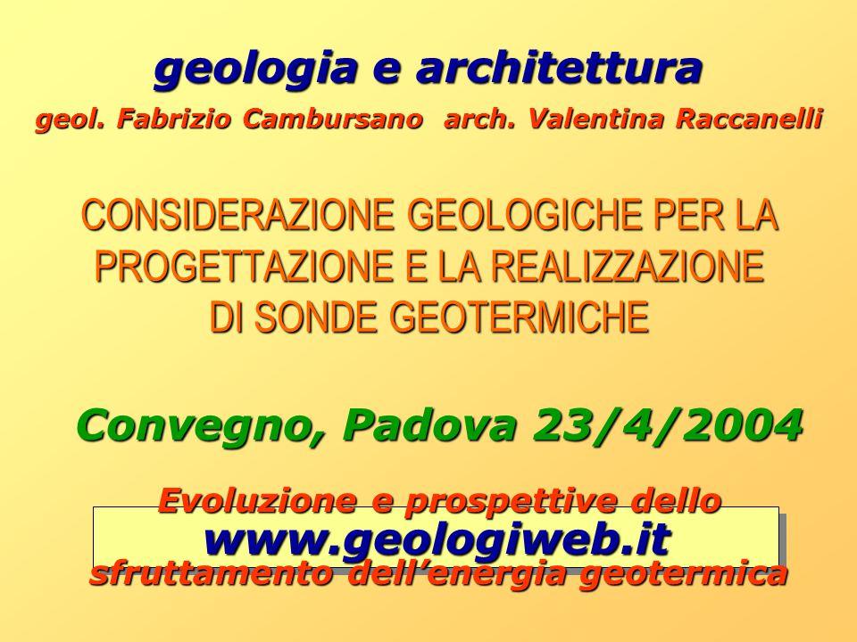geologia e architettura Convegno, Padova 23/4/2004 www.geologiweb.it