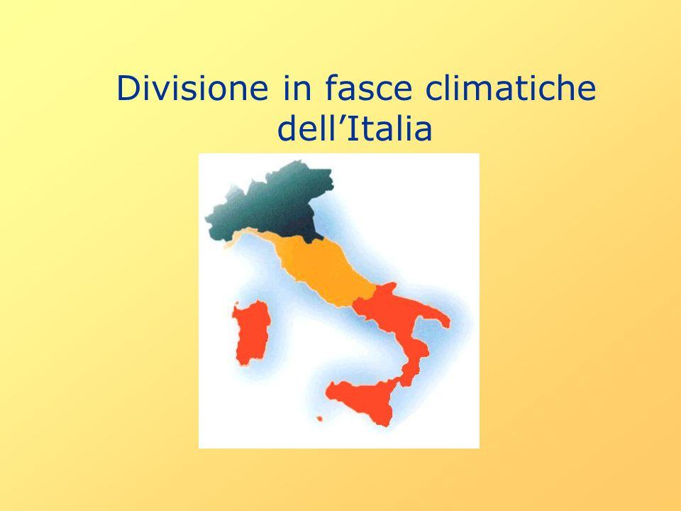 Divisione in fasce climatiche dell'Italia