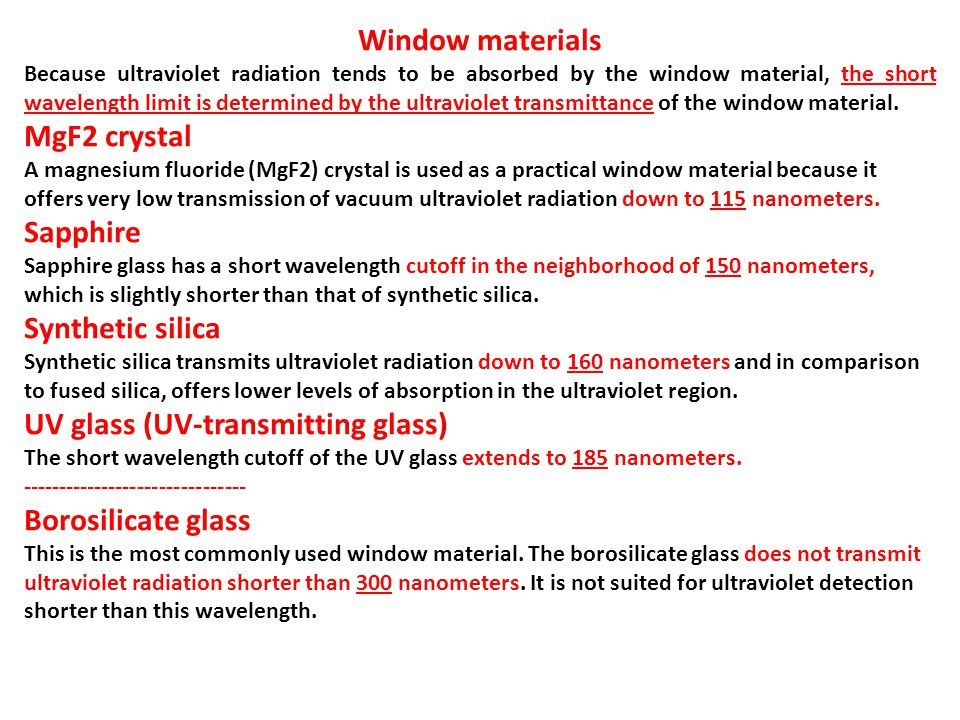 UV glass (UV-transmitting glass)