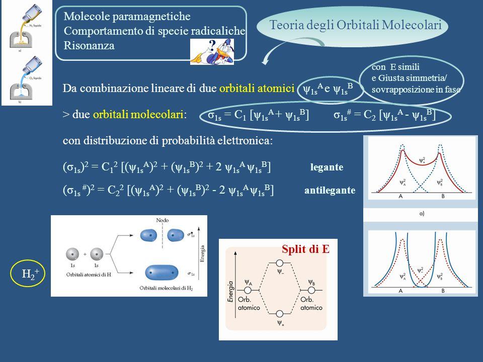 Teoria degli Orbitali Molecolari Molecole paramagnetiche