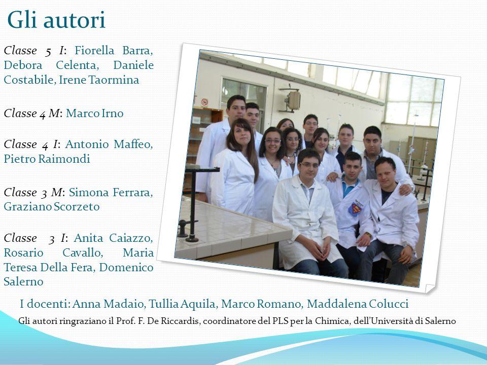 I docenti: Anna Madaio, Tullia Aquila, Marco Romano, Maddalena Colucci