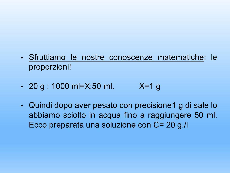 Sfruttiamo le nostre conoscenze matematiche: le proporzioni!