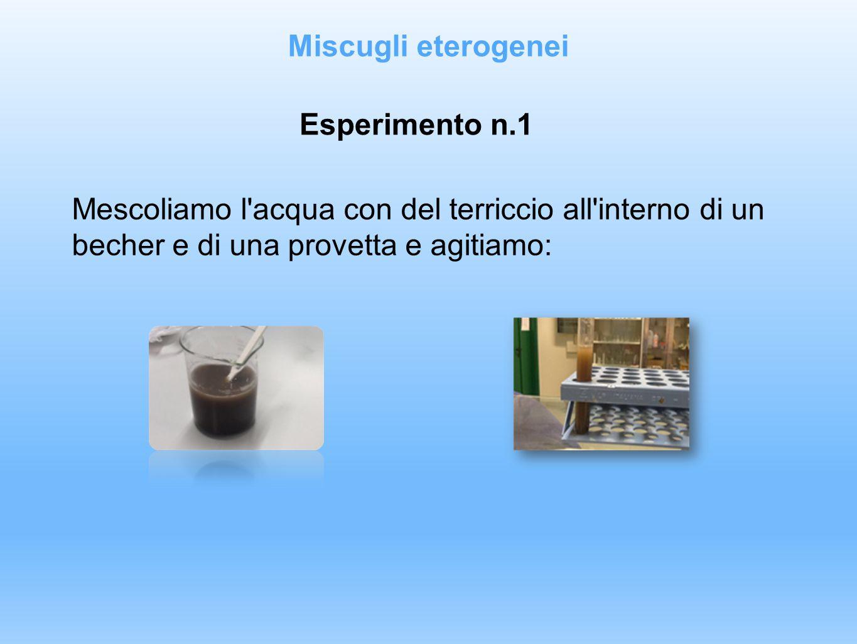 Miscugli eterogenei Esperimento n.1.