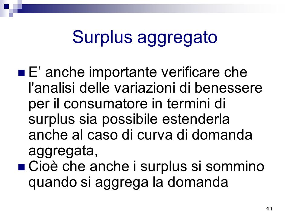 Surplus aggregato
