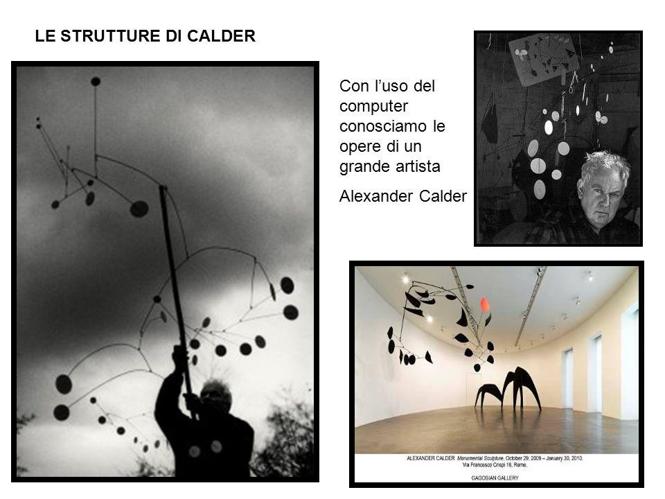 LE STRUTTURE DI CALDER Con l'uso del computer conosciamo le opere di un grande artista.