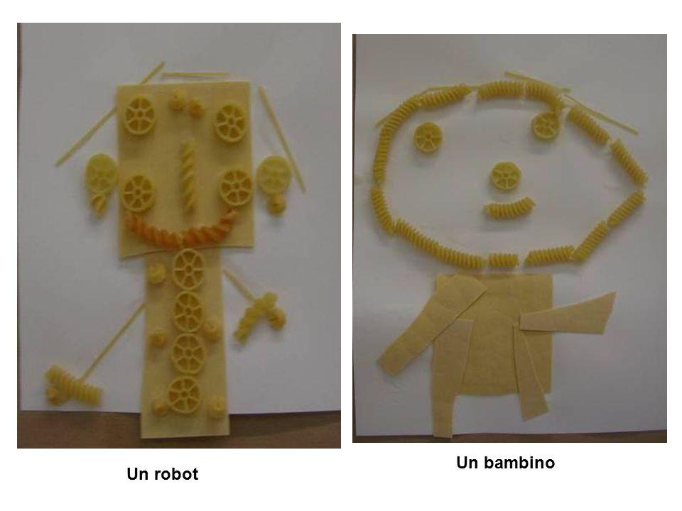 Un bambino Un robot