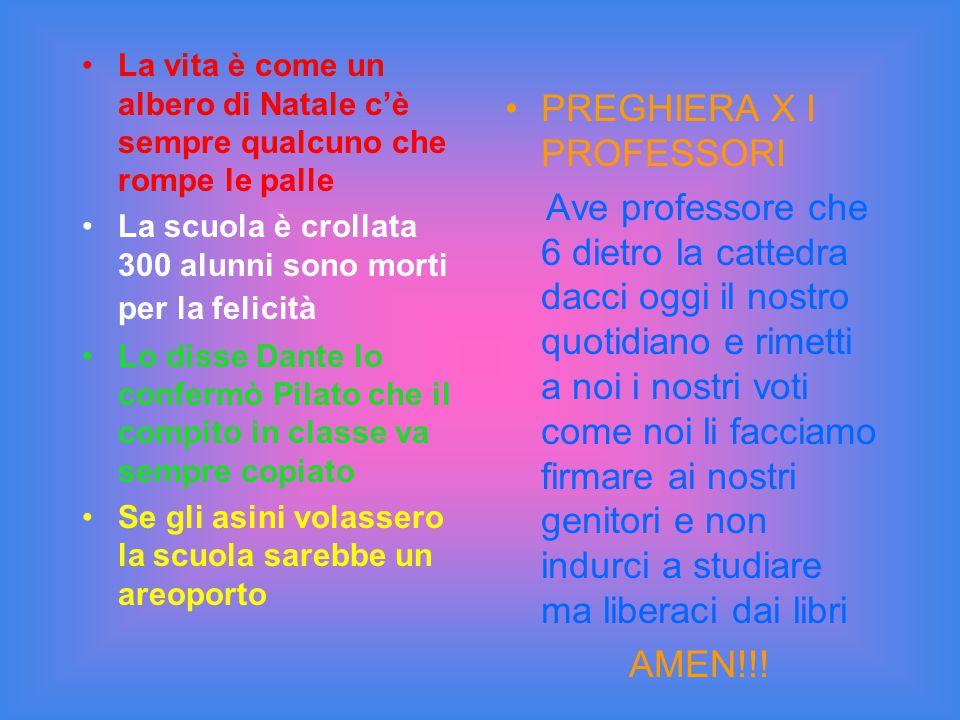 PREGHIERA X I PROFESSORI