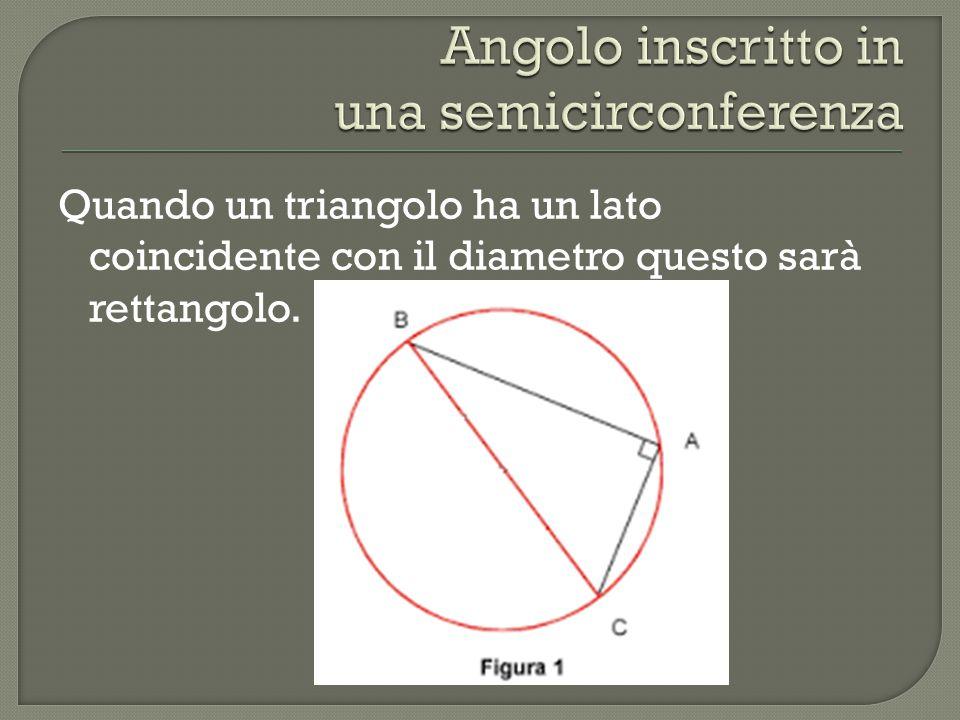 Angolo inscritto in una semicirconferenza