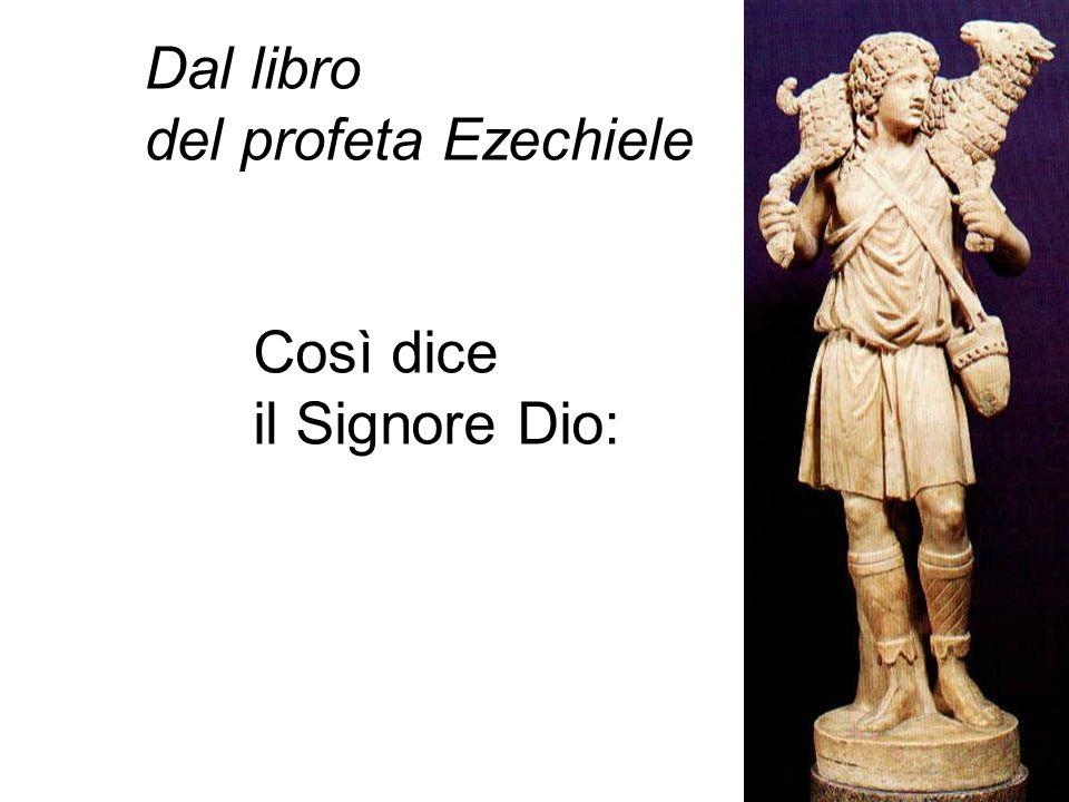 Dal libro del profeta Ezechiele Così dice il Signore Dio: