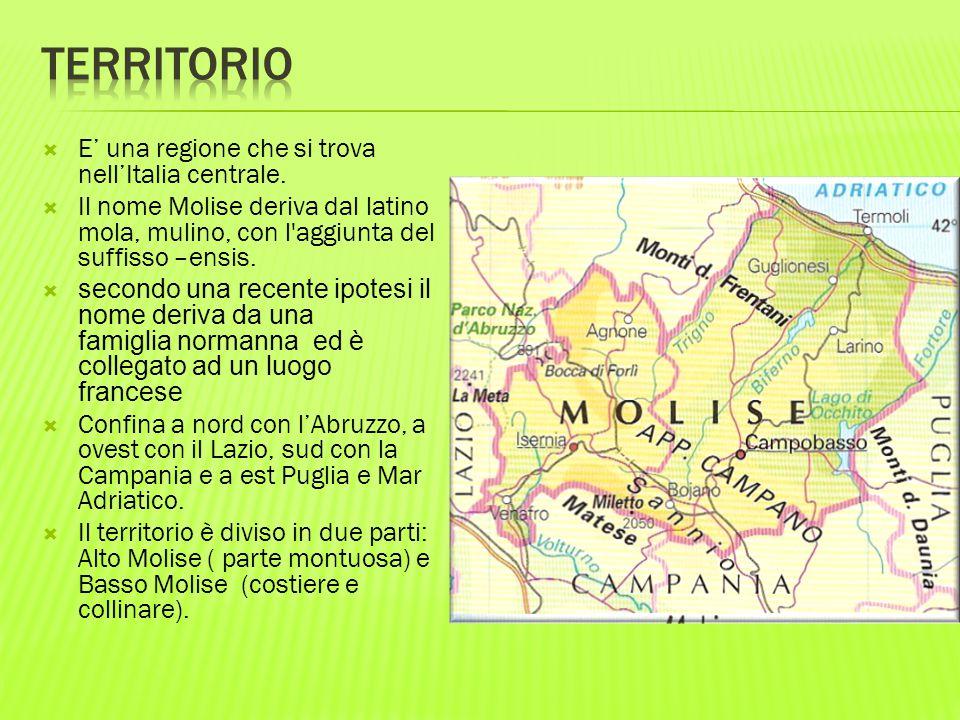 Territorio E' una regione che si trova nell'Italia centrale.