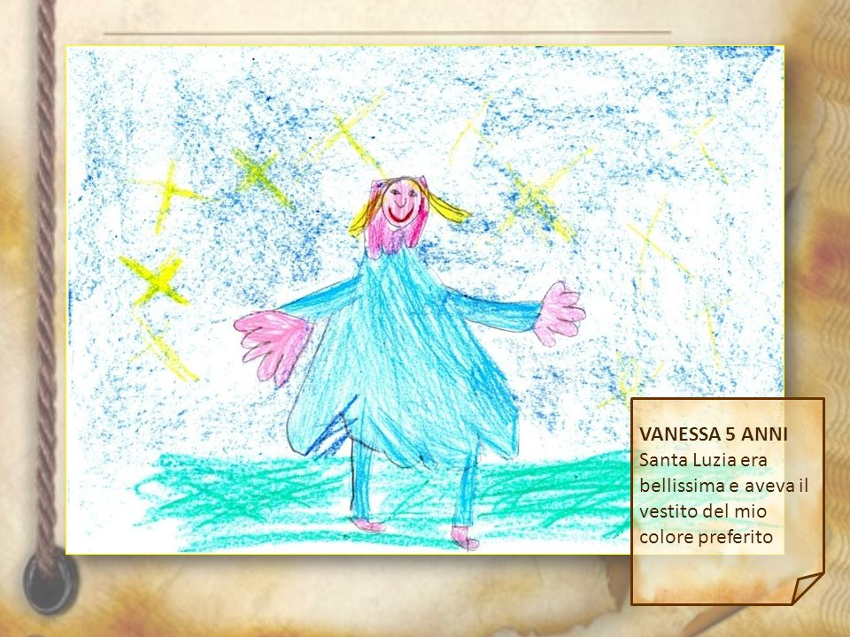 VANESSA 5 ANNI Santa Luzia era bellissima e aveva il vestito del mio colore preferito