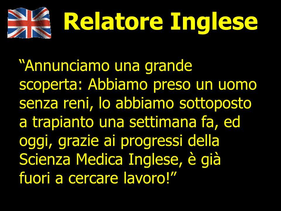 Relatore Inglese