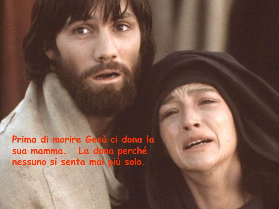 Prima di morire Gesù ci dona la sua mamma
