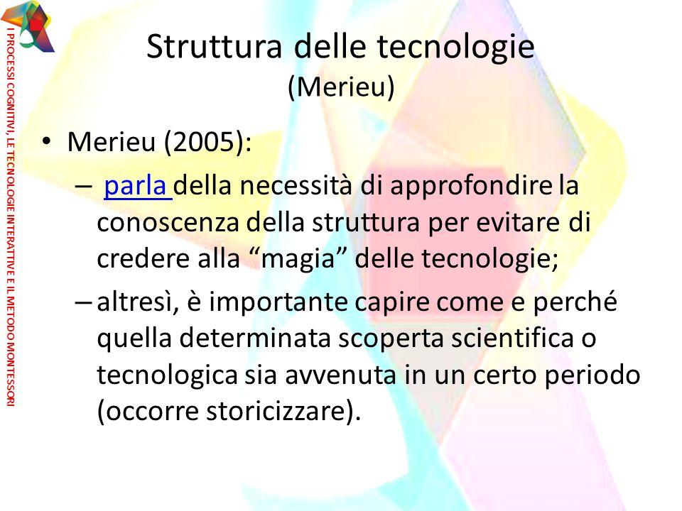 Struttura delle tecnologie (Merieu)