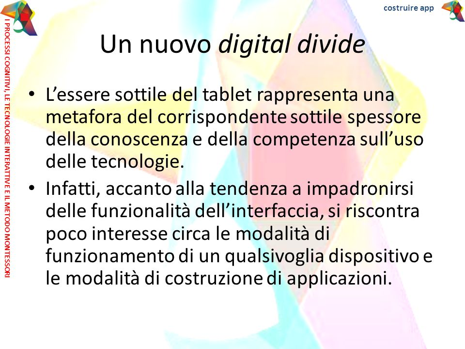 Un nuovo digital divide