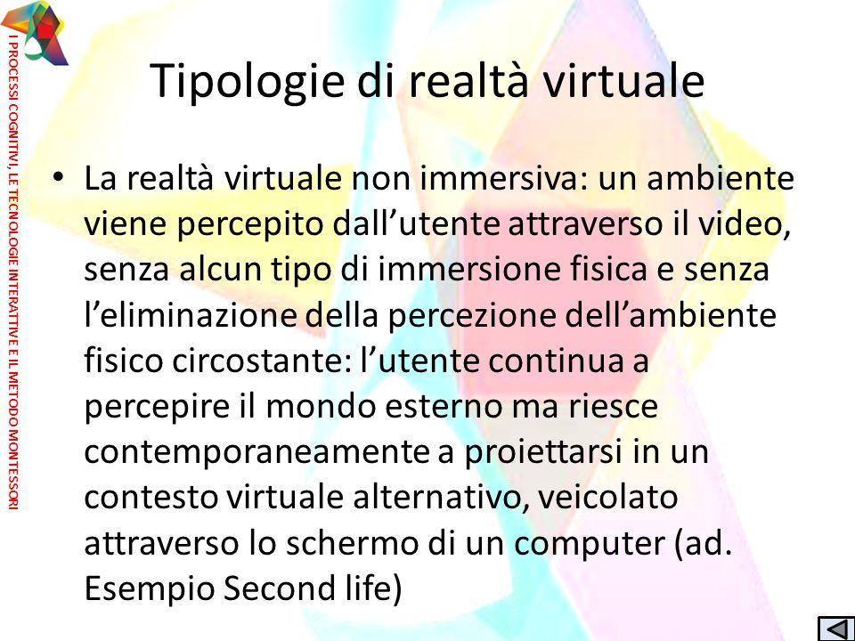 Tipologie di realtà virtuale